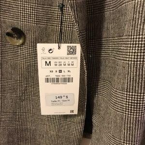 Zara Jackets & Coats - Zara checked double breasted blazer
